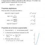 La fonction exponentielle (terminale S) – Fiche