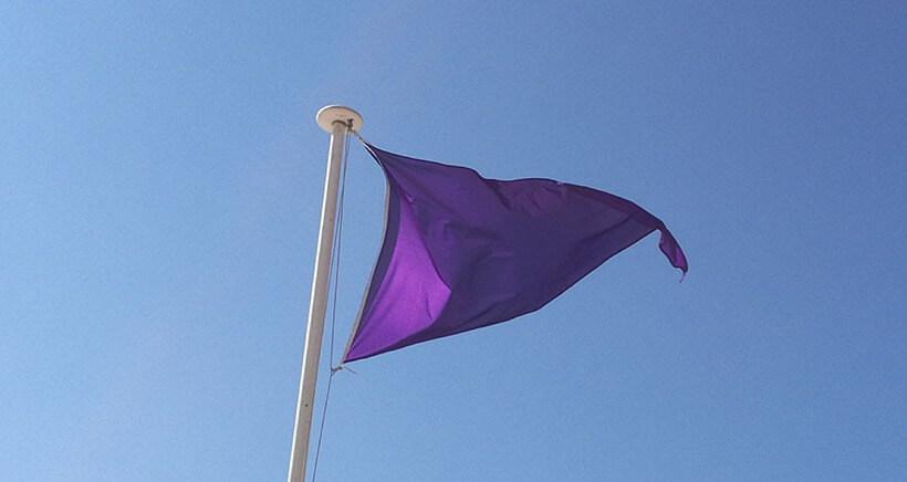 drapeau violet - les sables-d'olonne
