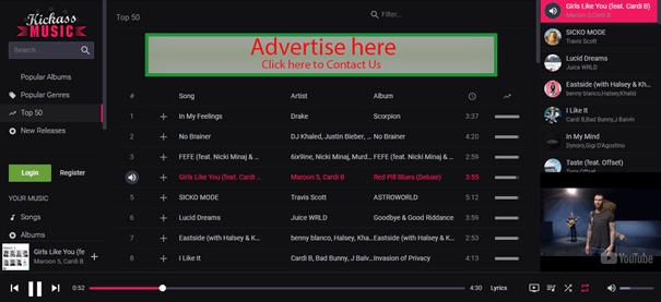 interface kickass music
