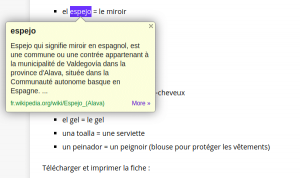 Traduction et définition d'un mot Google Dictionary