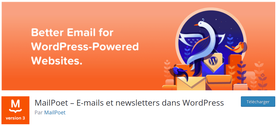 MailPoet allows you to create newsletters