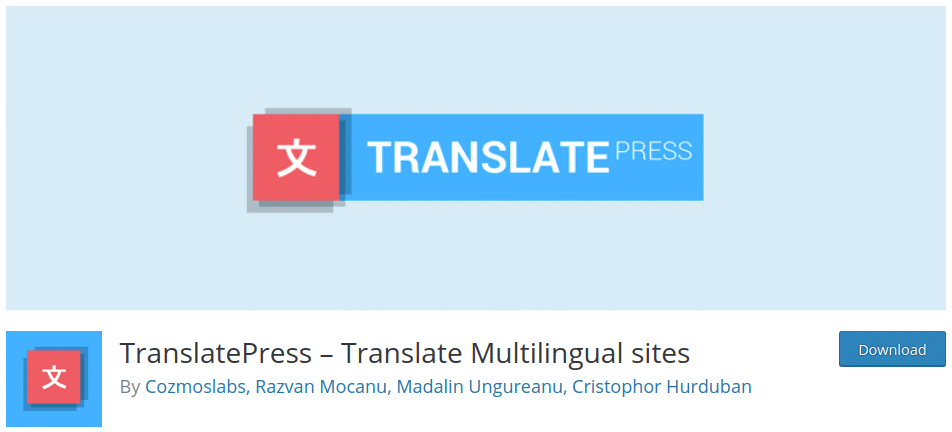 TranslatePress is one of the most intuitive WordPress plugins for translating n & #039; any part of your site