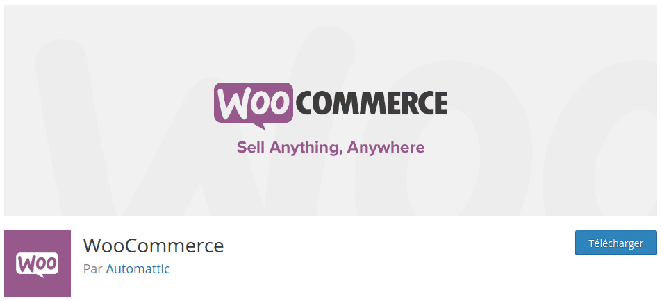 WooCommerce is the essential WordPress extension to create an online store