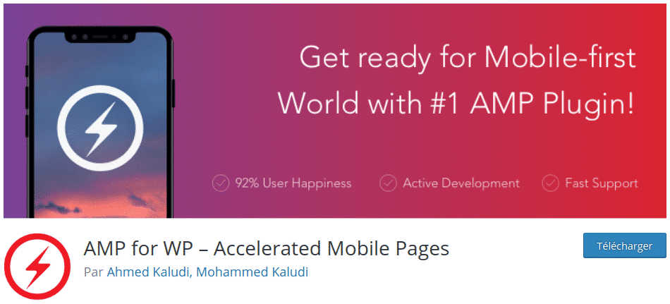 AMP for WP is one of the best WordPress plugins to generate an AMP version of your pages.